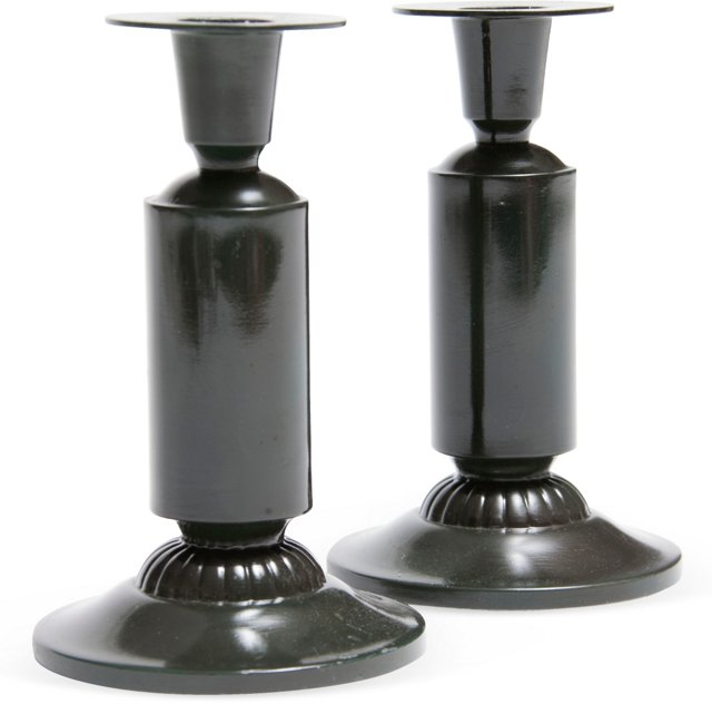 Just Andersen Candleholders, Pair