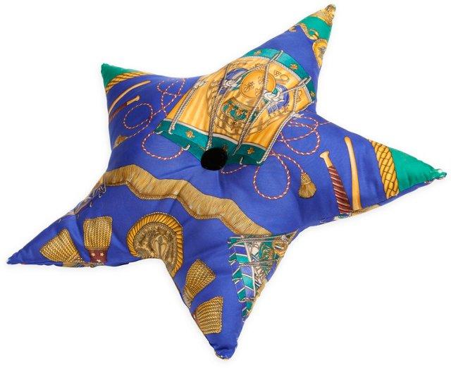 Custom Hermès Star Accent Pillow