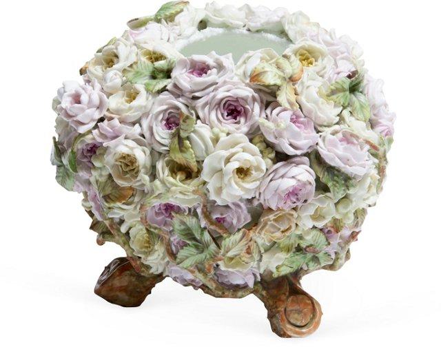 Handmade Floral Ceramic Vase