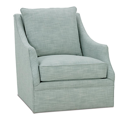 Kara Swivel Chair, Ice Blue
