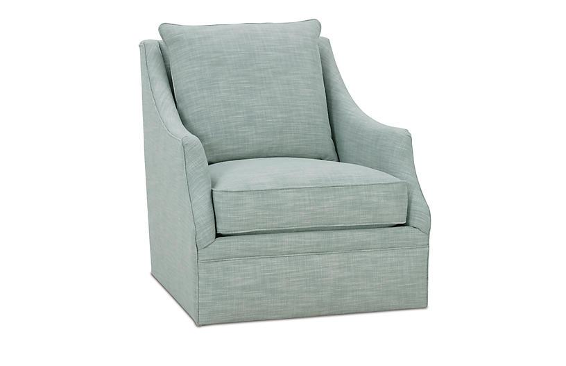 Kara Swivel Chair, Ice Blue