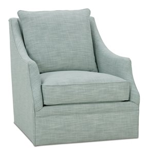Kara Swivel Chair, Ice Blue   Club Chairs   Chairs   Living Room   Furniture  | One Kings Lane