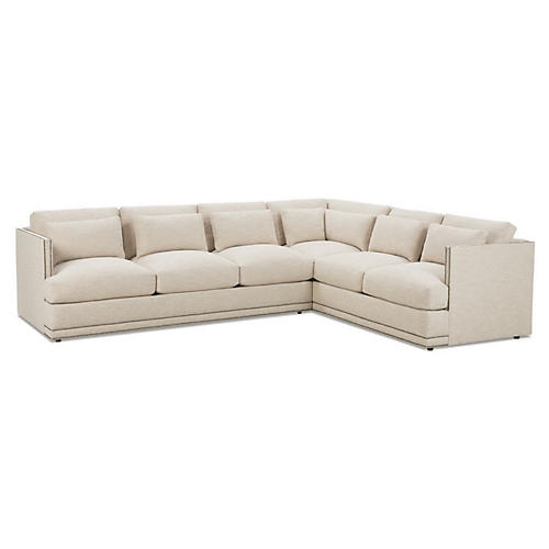 Ott Sectional, Straw