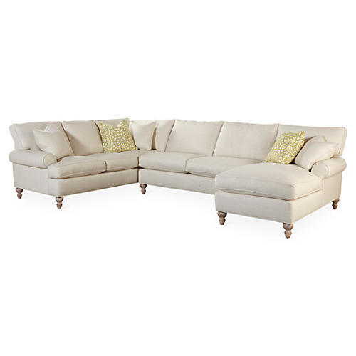 Cindy Sectional, Natural