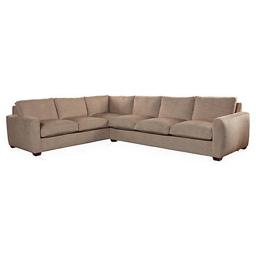 Brynne Sectional, Cocoa