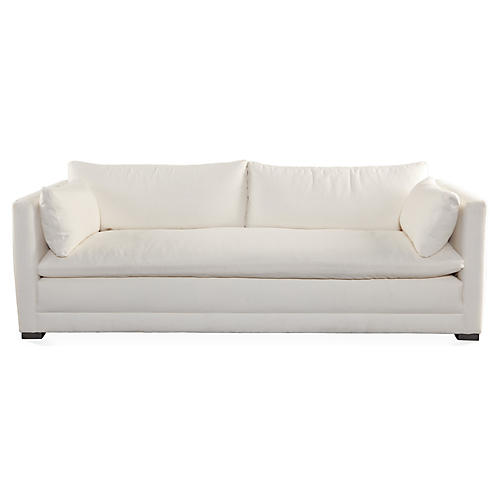 "Ellice 92"" Sofa, Natural White"