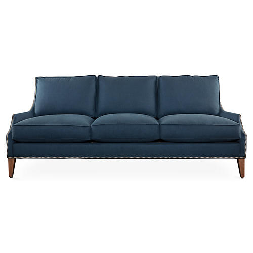 "Duchess 86"" Sofa, Navy"