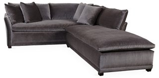 Tribeca Right Facing Sectional, Onyx   Sectionals   Living Room   Furniture  | One Kings Lane