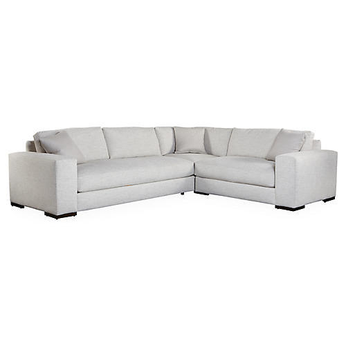 Maddox Right-Facing Sectional, Pearl