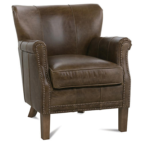 Grant Chair, Cocoa Leather
