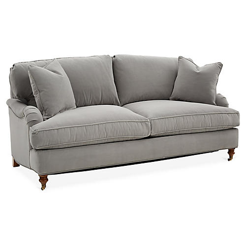 Brooke Sleeper Sofa, Gray Crypton