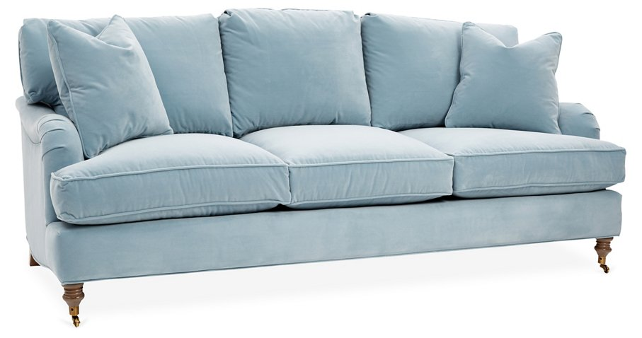 Brooke Sofa Light Blue Crypton Sofas Sectionals Furniture Category Landing Page One Kings Lane