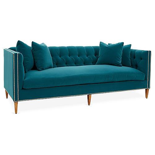Brette Sofa, Peacock Crypton