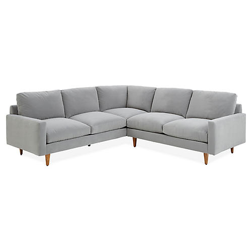 Oslo Sectional, Gray Crypton