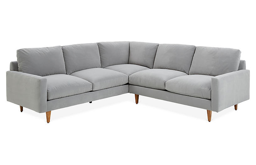 Onslow Sectional, Gray Crypton