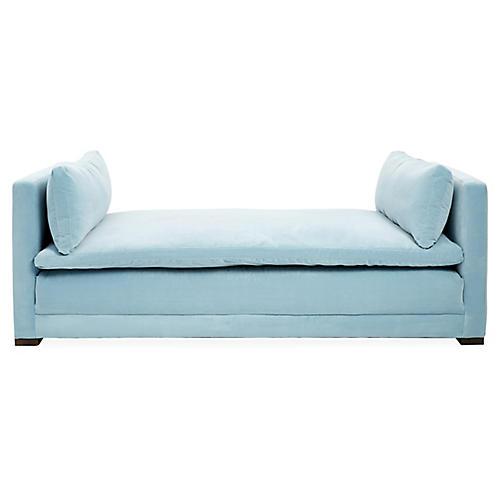 Ellice Daybed, Light Blue Crypton