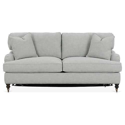Brooke Sleeper Sofa, Mist Crypton