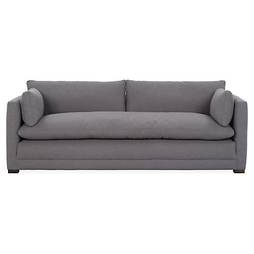 Ellice Sofa, Charcoal Crypton