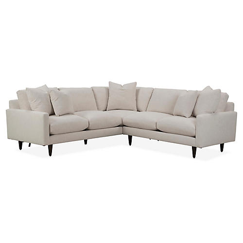 Oslo Right-Facing Sectional, Ivory Crypton