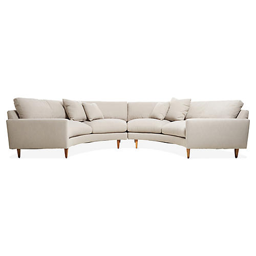 Oslo Sectional, Greige Crypton
