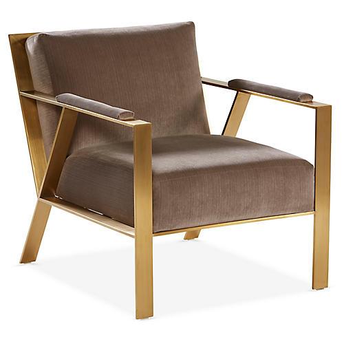 Baran Accent Chair, Mushroom