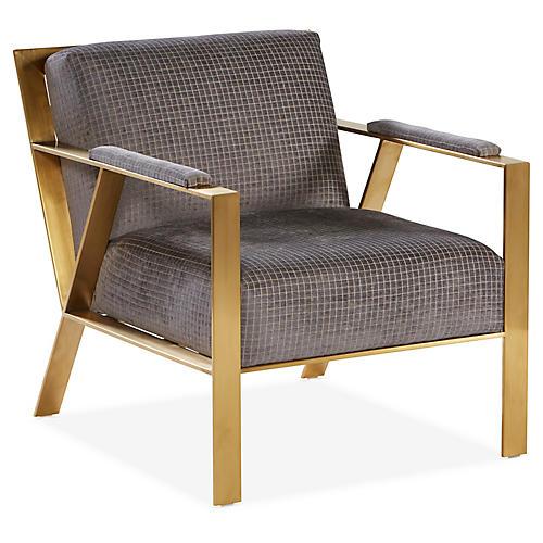 Bergen Accent Chair, Slate