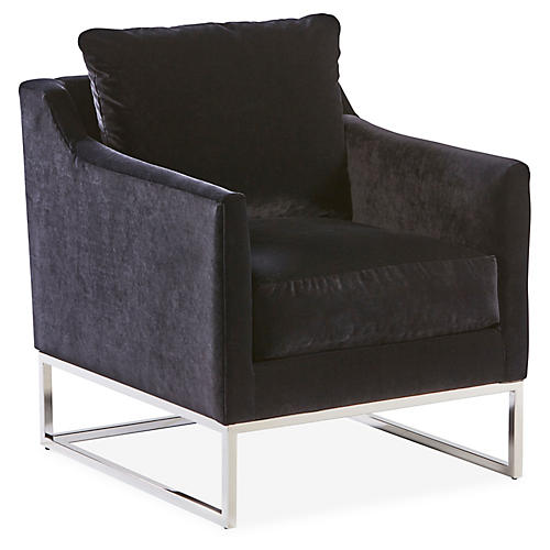 Skyler Accent Chair, Black