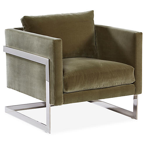 Geneva Accent Chair, Sage Green