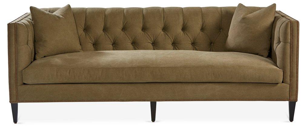 Brette Sofa Olive Green Sofas Settees Living Room Furniture One Kings Lane