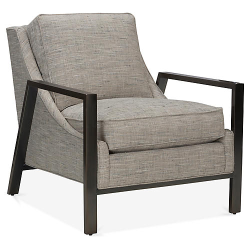 Odell Accent Chair, Greige