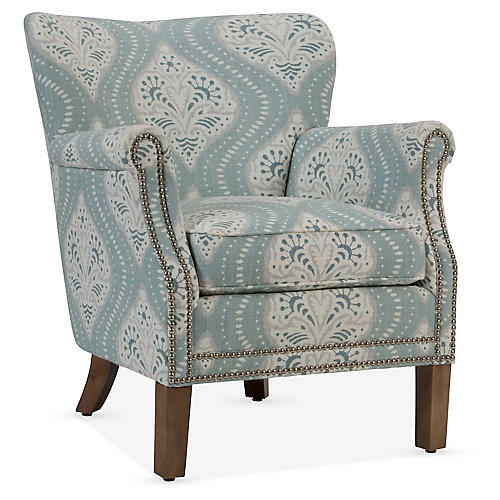 Grant Accent Chair, Light Blue