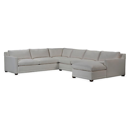 Sauders Sectional, Chalk White