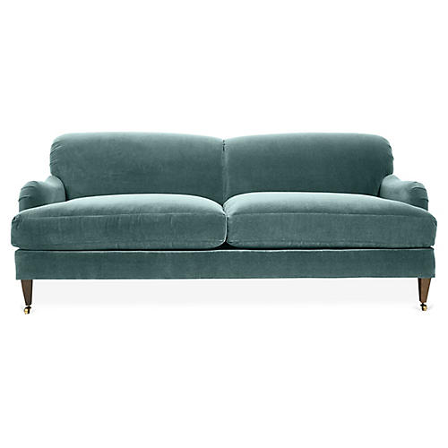 Brampton Sofa, Sage Velvet