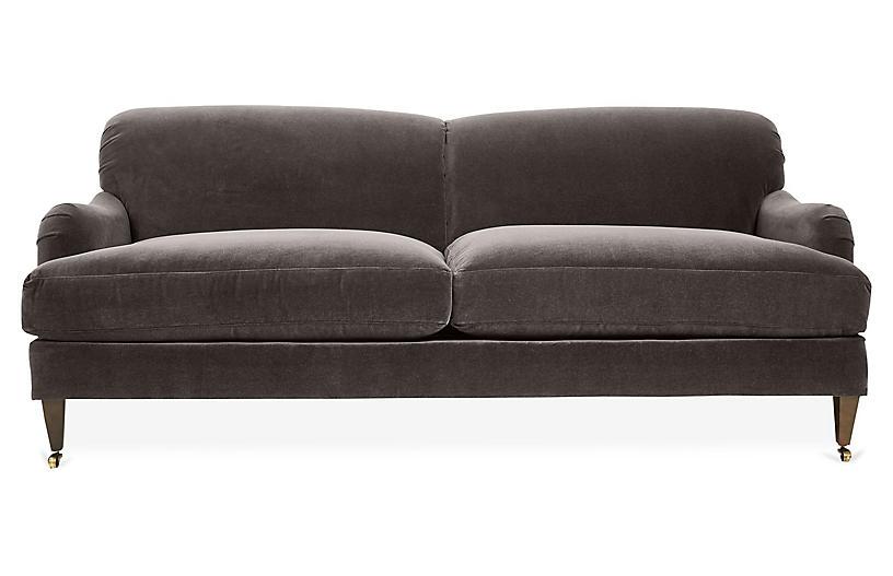 Brampton Sofa Charcoal Velvet Sofas Sofas Settees