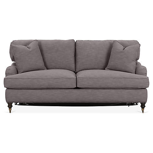 Brooke Sleeper Sofa, Charcoal Crypton