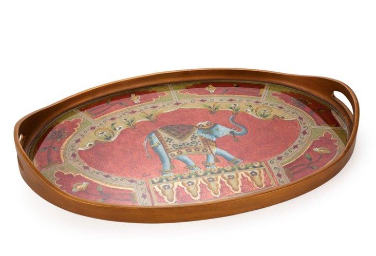 Oval Tray, Elephant