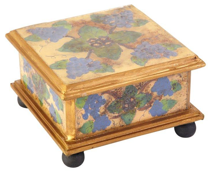"4"" Square Box, Antique Grapes"
