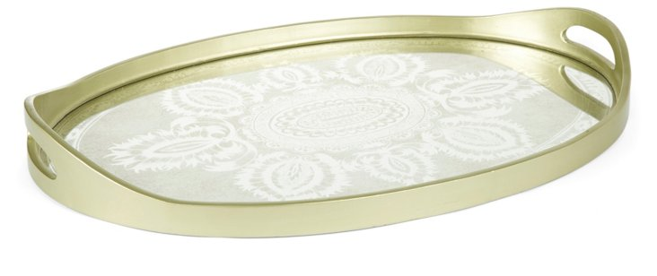 "24"" Oval Tray, Dharan"