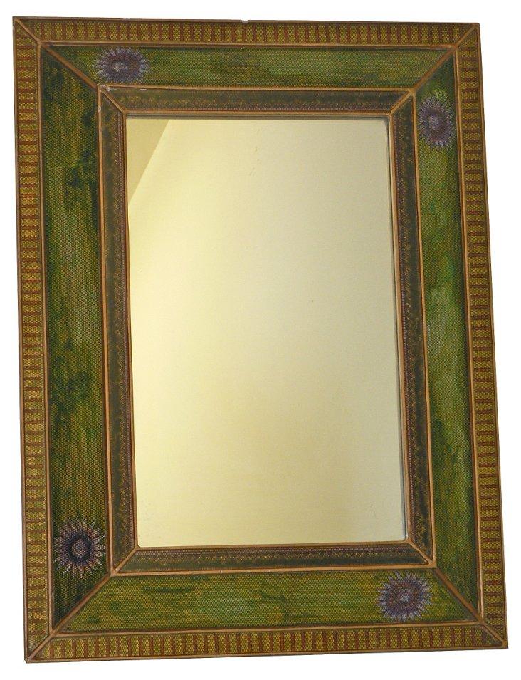 Aya Wall Mirror, Green/Purple