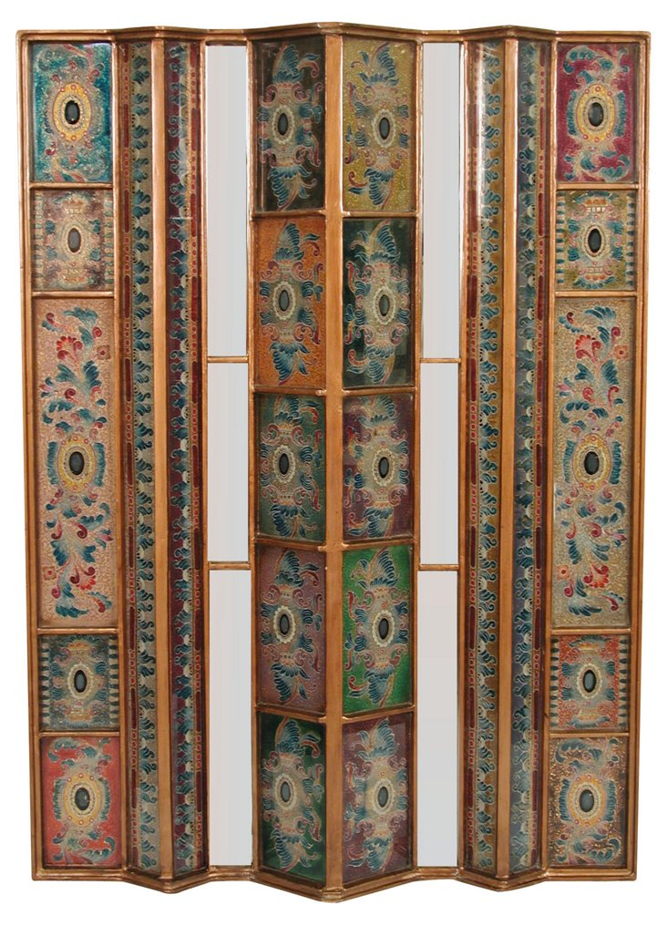 "42"" Accordian Wall Panel, Blue/Multi"