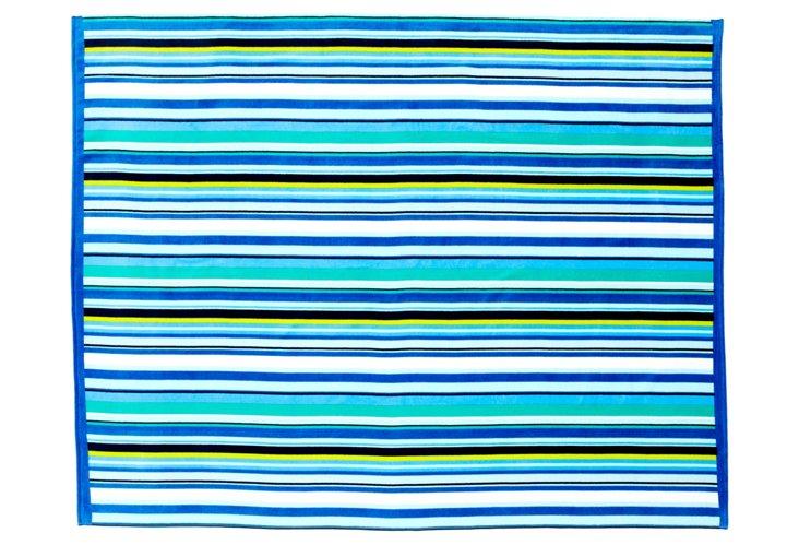 Shine Beach Blanket, Blue