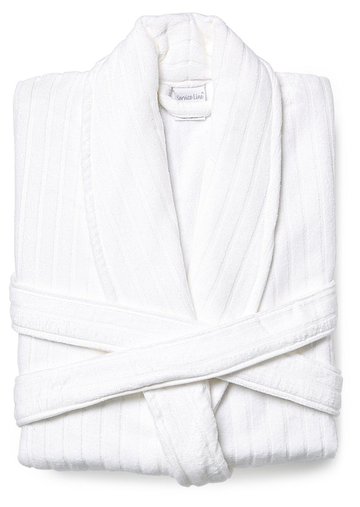 Unisex Sculpted Terry Velour Spa Robe