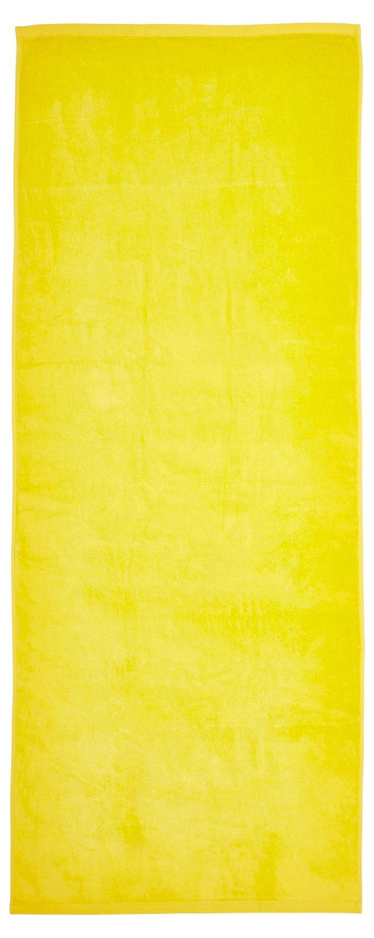 Beach Towel, Neon Yellow