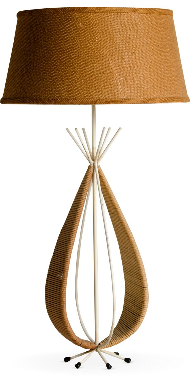 Tony Paul Iron & Rope Table Lamp