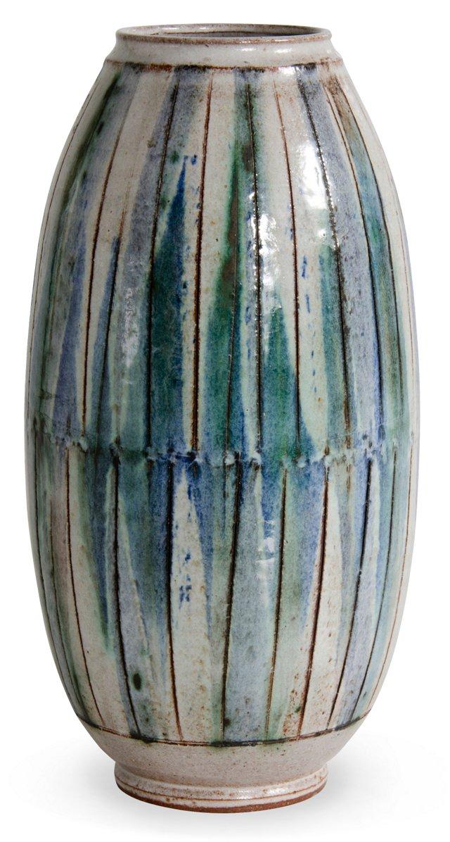Ernie Kim Incised Vase