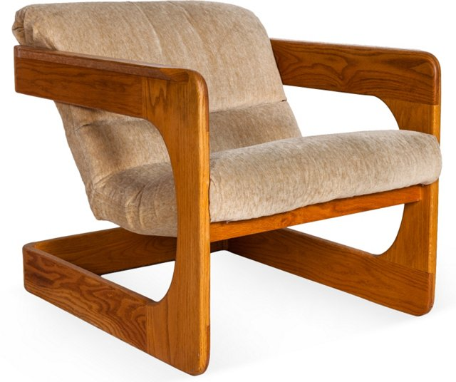 Lou Hodges Thin Armed Lounge Chair