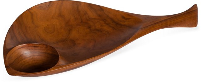 Emil Milan Walnut Fish Bowl