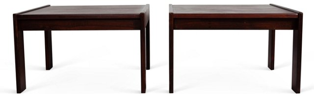 Emile De Piero End Tables, Pair