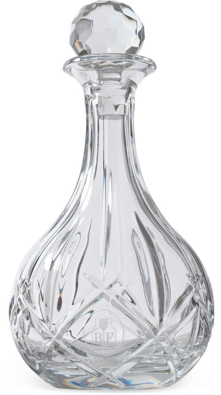 Round Cut-Crystal Decanter