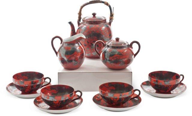Chinese Tea Set, 11 Pcs.